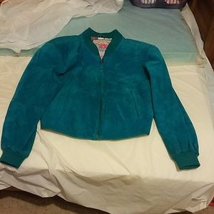 Vintage Overlsnd Outfitters Turquoise Suede Jacket